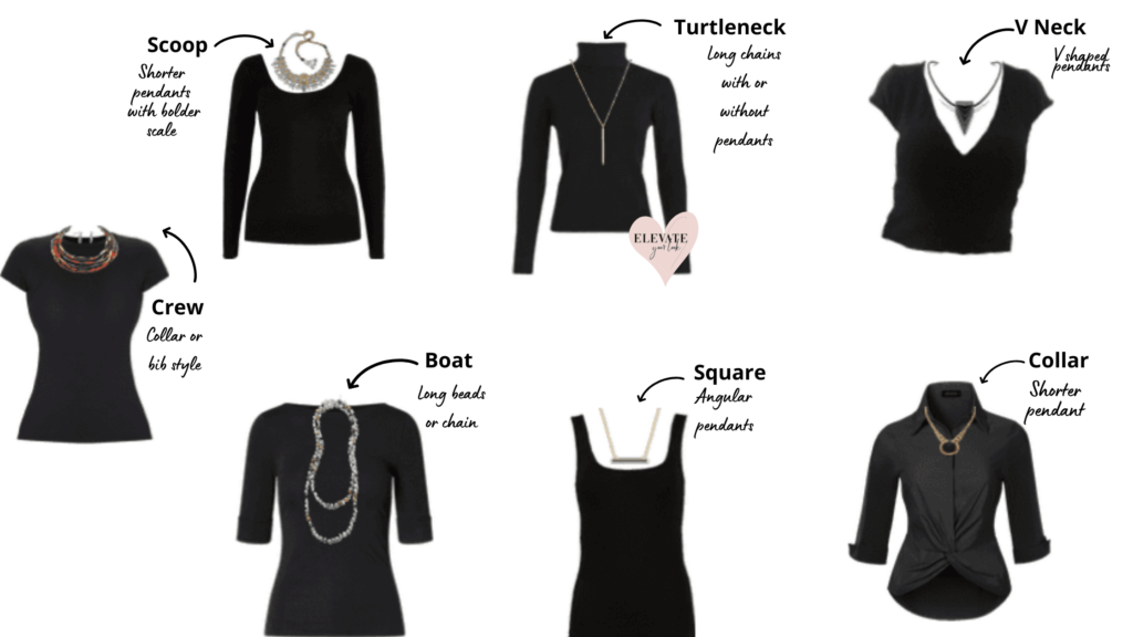 Necklaces to wear with Necklines
